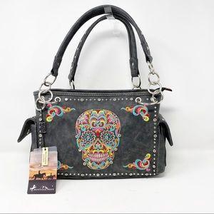 Montana West SUGAR SKULL Embroidered Concealed Bag